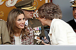 Princess Letizia of Spain and Sofia Queen of Spain attend the National Day Military Parad.October 12,2012.(ALTERPHOTOS/Acero)
