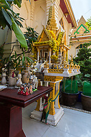 Bangkok, Thailand.  A San Phra Phum, Thai Spirit House of the Spirit Guarding the Land on which a House or Other Building is Erected.