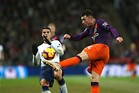 Aymeric Laporte of Manchester City clears the ball during Tottenham Hotspur vs Manchester City, Premier League Football at Wembley Stadium on 29th October 2018