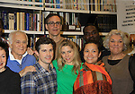 """Rehearsals for Ragtime starring One Life To Live Kerry Butler """"Claudia Reston"""" (green), Dick Latessa (Edge of Night) (blue), Matt Cavenaugh (also As The World Turns """"Adam Munson"""") (plaid), General Hospital Tyne Daly """"Caroline"""" (right), Phillip Boykin (back right), As The World Turns Lea Salonga """"Lien Hughes"""" (multi), Young and the Restless Howard McGillan """"Snapper's brother - Greg Foster"""" (back L) on February 11, 2013 for a concert at Avery Fisher Hall, New York City, New York on Monday February 18, 2013. (Photo by Sue Coflin/Max Photos)"""
