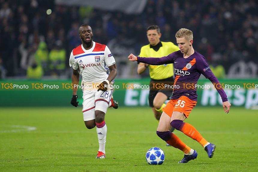 Oleksandr Zinchenko of Manchester City in action during Lyon vs Manchester City, UEFA Champions League Football at Groupama Stadium on 27th November 2018