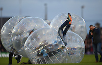 15/10/2016; European Rugby Champions Cup Round 1, Connacht vs Toulouse; Sportsground, Galway<br /> &quot;Bubble Rugby&quot; players entertain the crowd at half time.<br /> Photo Credit: actionshots.ie/Tommy Grealy