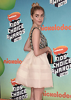 LOS ANGELES, CA - MARCH 23:  Kiernan Shipka at Nickelodeon's 2019 Kids' Choice Awards at the Galen Center on March 23, 2019 in Los Angeles, California. (Photo by Scott KirklandPictureGroup)