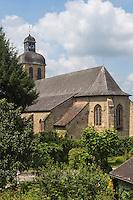 France, Aquitaine, Pyrénées-Atlantiques, Béarn, Navarrenx: l'église //  France, Pyrenees Atlantiques, Bearn, Navarrenx: the church
