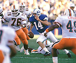 Ty Detmer  1990 opener vs Miami.<br /> <br /> 14 Ty Detmer Quarterback.<br /> <br /> Sept.  1990<br /> FTB 9009 588<br /> <br /> Photo by Mark Philbrick/BYU
