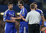Chelsea's Diego Costa protests his innocence after a foul<br /> <br /> Barclays Premier League - Chelsea v AFC Bournemouth - Stamford Bridge - England - 5th December 2015 - Picture David Klein/Sportimage