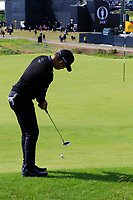Gunn Charoenkul (THA) putts onto the 1st green during Thursday's Round 1 of the 148th Open Championship, Royal Portrush Golf Club, Portrush, County Antrim, Northern Ireland. 18/07/2019.<br /> Picture Eoin Clarke / Golffile.ie<br /> <br /> All photo usage must carry mandatory copyright credit (© Golffile | Eoin Clarke)