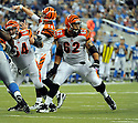 NATE LIVINGS, of the Cincinnati Bengals in action during the Bengals game against the Detroit Lion on August 12, 2011 at Ford Field in Detroit, Michigan. The Lions beat the Bengals 34-3.