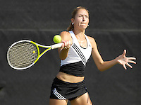 The opening day of the University of Miami Fall Classic tennis tournament at Coral Gables, Florida on Friday, November 10, 2006...Junior Marijana Cutuk<br />