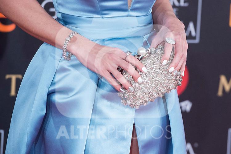 Handbag Maria Botto attends red carpet of Goya Cinema Awards 2018 at Madrid Marriott Auditorium in Madrid , Spain. February 03, 2018. (ALTERPHOTOS/Borja B.Hojas)