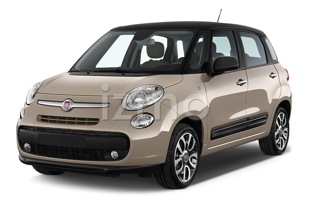 2017 Fiat 500L Lounge 5 Door Mini MPV Angular Front stock photos of front three quarter view
