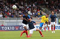 Matheus Henrique scores Brazil's second goal during France Under-18 vs Brazil Under-20, Tournoi Maurice Revello Football at Stade d'Honneur Marcel Roustan on 5th June 2019