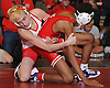 Jared Altan of Plainedge, left, controls Khaleem Morris of Freeport at 99 pounds during the final round of the 2016 Ted Petersen Tournament at Island Trees High School on Saturday, Jan. 2, 2016. Altan won the match.