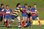 Haani Hala'eua tries to stop Vince Fatu. McNamara Cup final - Premier 1 Championship, Patumahoe v Ardmore Marist. Patumahoe won 13 - 6. Counties Manukau club rugby finals played at Growers Stadium, Pukekohe, 24th of June 2006.