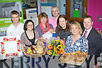 Pictured at the Bank of Irelands Castle Street, Tralee, Show your business, during National Enterprise week were from left, Denis Dunworth, Top part, Sharon Ni Shuilleabhain, Bluirini Blasta, Linda Baker, Bamboo, Mike McGillycuddy, Bank of Ireland, Elenor Feeney, Elenors Florists, Meave Duff, Kingdom Food Hall, Roger Haety, Hartys Opticians,
