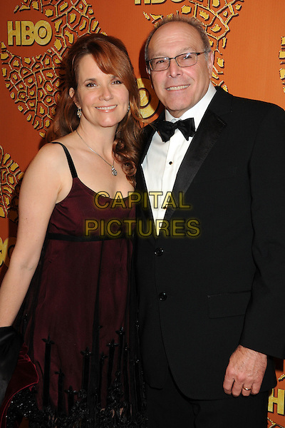 LEA THOMPSON & HOWARD DEUTCH.HBO's 2010 67th Golden Globe Awards Post Party held at the Beverly Hilton Hotel, Beverly Hills, California, USA..January 17th, 2009.globes half length dress tuxedo glasses married husband wife necklace red black sheer.CAP/ADM/BP.©Byron Purvis/Admedia/Capital Pictures