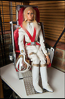 BNPS.co.uk (01202 558833)<br /> Pic: TomWren/BNPS<br /> <br /> Destiny Angel in her flight suit and helemt.<br /> <br /> A Thunderbirds fanatic who always dreamt of owning an original Parker puppet now earns a living making them for fellow fans.<br /> <br /> Duncan Willis, 59, made his first puppet 15 years ago and his hobby has grown into a business where he creates puppets of the show's best-loved characters including Parker, Lady Penelope and Jeff Tracy. <br /> <br /> Mr Willis makes and sells about 20 Thunderbirds puppets a year at his home in Whiteley, Hampshire, together with elaborate props for them because he doesn't want them to be stood 'with a rod up their backside'. <br /> <br /> The puppets, which measure between 19 and 23in, take him four to six weeks to craft and cost in the region of &pound;900.