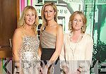 Claire Murphy, Tralee, Derval O'Connell, Killarney, and Monica Murphy, Tralee at the Fashion Show at Kerry Fashion Weekend in the The Ross Hotel, Killarney, on Saturday.