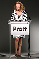 Diane von Furstenberg, speaks at the Pratt 2011 fashion show, honoring Hamish Bowles, April 27 2011.