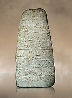 Neo Hittite Period Hieroglyphic inscription on a stone orthostat - Anatolian Civilisations Museum, Ankara, Turkey.