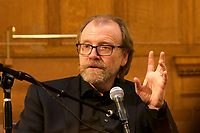 George Saunders and Athul Gawande in Conversation presented by Newtonville Books at the First Baptist Church of Newton Newton MA 2.18.18