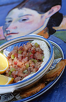 """Europe/France/Bretagne/29/Finistère/Pont-Aven: Tartare de maquereau - Recette de Mr Guilloux du restaurant """"La Taupinière"""""""