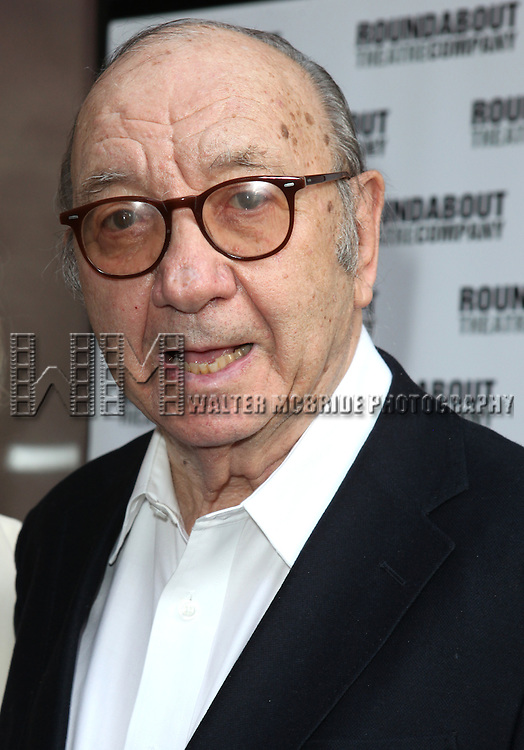 "Neil Simon pictured at the Opening Night Arrivals of ""Harvey"" at Studio 54 New York City June 14, 2012 © Walter McBride / WM Photography ."