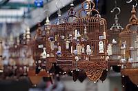 Asie/Singapour/Singapour: Seng Poh - Détail de cages à oiseaux