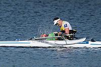 Sarasota. Florida USA.AUS PR M1X.Erik HORRIE, splashing the water after winning Gold Medal on Sundays Final's Day at the  2017 World Rowing Championships, Nathan Benderson Park<br /> <br /> Sunday  01.10.17   <br /> <br /> [Mandatory Credit. Peter SPURRIER/Intersport Images].<br /> <br /> <br /> NIKON CORPORATION -  NIKON D500  lens  VR 500mm f/4G IF-ED mm. 200 ISO 1/1600/sec. f 7.1
