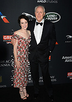 Claire Foy &amp; John Lithgow at the 2017 AMD British Academy Britannia Awards at the Beverly Hilton Hotel, USA 27 Oct. 2017<br /> Picture: Paul Smith/Featureflash/SilverHub 0208 004 5359 sales@silverhubmedia.com