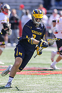College Park, MD - April 1, 2017: Michigan Wolverines Christian Wolter (9) in action during game between Michigan and Maryland at  Capital One Field at Maryland Stadium in College Park, MD.  (Photo by Elliott Brown/Media Images International)