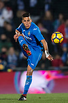 Faycal Fajr of Getafe CF in action during the La Liga 2017-18 match between Getafe CF and Malaga CF at Coliseum Alfonso Perez on 12 January 2018 in Getafe, Spain. Photo by Diego Gonzalez / Power Sport Images