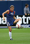 1 August 2004: Mia Hamm. The United States defeated China 3-1 at Rentschler Field in East Hartford, CT in an women's international friendly soccer game..