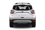 Straight rear view of 2017 Ford Escape Titanium 5 Door Suv Rear View  stock images