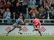 June 4th 2017, AJ Bell Stadium, Salford, Greater Manchester, England;  Rugby Super League Salford Red Devils versus Wakefield Trinity;Jake Bibby of Salford scores his try