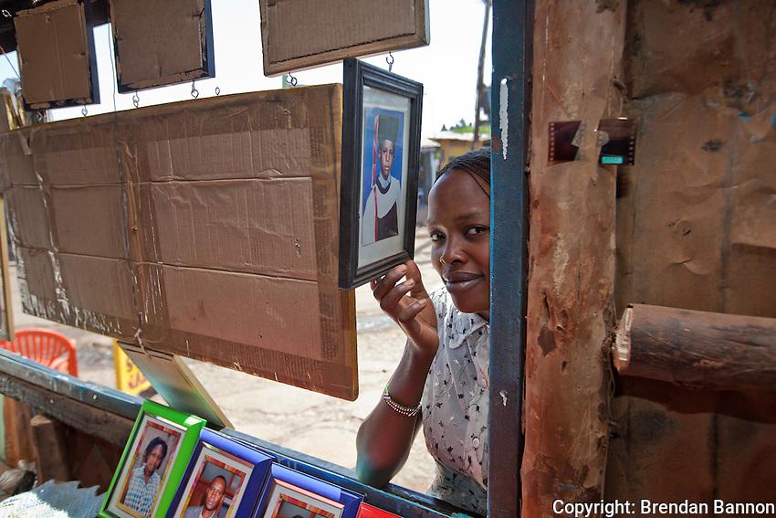 Katharine Kalonde, visiting  Lens Photo Studio in Kibera, Nairobi, Kenya's largest slum.