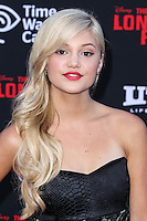 ANAHEIM, CA - JUNE 22: Olivia Holt attends The World Premiere of Disney/Jerry Bruckheimer Films' 'The Lone Ranger' at Disney California Adventure Park on June 22, 2013 in Anaheim, California. (Photo by Celebrity Monitor)