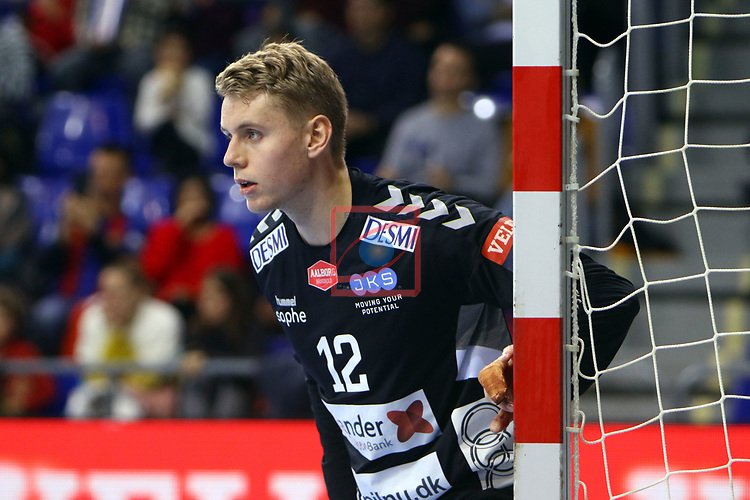 VELUX EHF 2019/20 EHF Men's Champions League Group Phase - Round 8.<br /> FC Barcelona vs Aalborg Handbold: 44-35.<br /> Kristian Saeveraas.