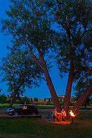 Camping, Devils Tower National Monument, Wyoming USA