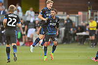 San Jose, CA - Monday July 10, 2017: Chris Wondolowski, Florian Jungwirth during a U.S. Open Cup quarterfinal match between the San Jose Earthquakes and the Los Angeles Galaxy at Avaya Stadium.