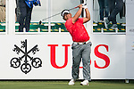 Panuphol Pittayarat of Thailand tees off the first hole during the 58th UBS Hong Kong Golf Open as part of the European Tour on 08 December 2016, at the Hong Kong Golf Club, Fanling, Hong Kong, China. Photo by Marcio Rodrigo Machado / Power Sport Images