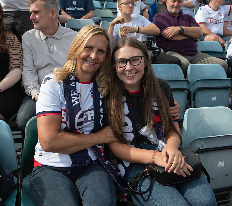 Bolton fans<br /> <br /> Photographer David Horton/CameraSport<br /> <br /> The EFL Sky Bet League One - Gillingham v Bolton Wanderers - Saturday 31st August 2019 - Priestfield Stadium - Gillingham<br /> <br /> World Copyright © 2019 CameraSport. All rights reserved. 43 Linden Ave. Countesthorpe. Leicester. England. LE8 5PG - Tel: +44 (0) 116 277 4147 - admin@camerasport.com - www.camerasport.com
