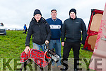 At  Ballyduff Coursing on Sunday were Chris Houlihan, Denis Moriarty and Paudie Moriarty with Unleash the Beast
