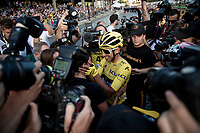 Egan Bernal (COL/Ineos) sharing the joy of his first Tour win with his family on the Champs-Élysées <br /> <br /> Stage 21: Rambouillet to Paris (128km)<br /> 106th Tour de France 2019 (2.UWT)<br /> <br /> ©kramon