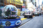 """Times Square Alliance unveiled its first season of Broadway """"Show Globes"""", """"Dear Evan Hansen', """"Ain't Too Proud"""", """"Wicked"""" and """"The Lion King"""" in Times Square on November 04, 2019 in New York City."""