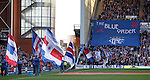 The Blue Order about to unveil their tribute banner to Ally McCoist