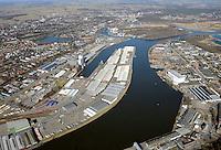 Luebeck Hafen: EUROPA, DEUTSCHLAND, LUEBECK (EUROPE, GERMANY), 25.02.2012   Luebecker Hafen, Museumshafen, Luftaufnahme, Luftbild, Luftansicht,.