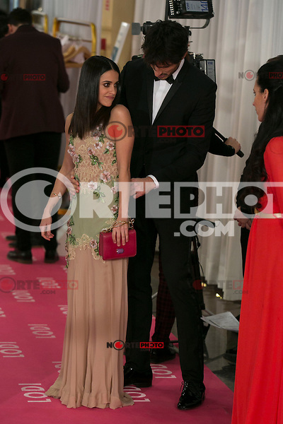 Andres Velencoso and Macarena Garcia attend the 2015 Goya Awards at Auditorium Hotel, Madrid,  Spain. February 07, 2015.(ALTERPHOTOS/)Carlos Dafonte) /NORTEphoto.com