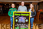"Alannah Whelan, Risteard Foran and Sara Murphy at the launch of the Kerry Camogie ""Stars in their Eyes"" fundraiser"