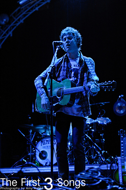 Andrew VanWyndgarden of MGMT performs during the Beale Street Music Festival in Memphis, TN on April 29, 2011.